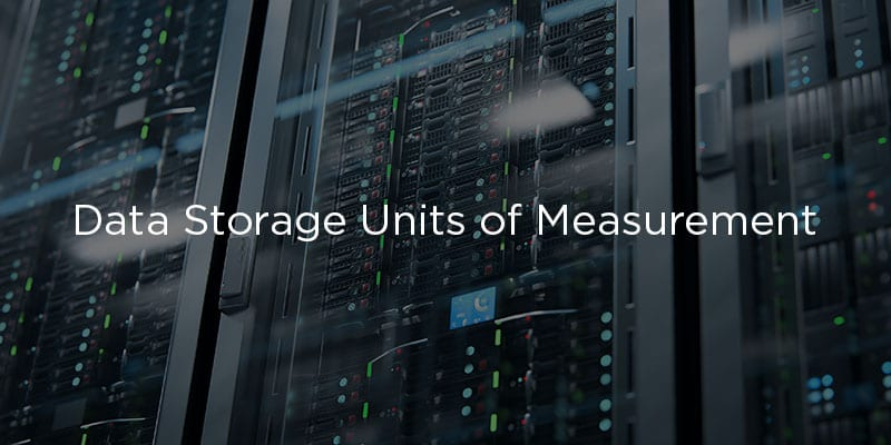 Data Storage Units of Measurement Chart from Smallest to Largest