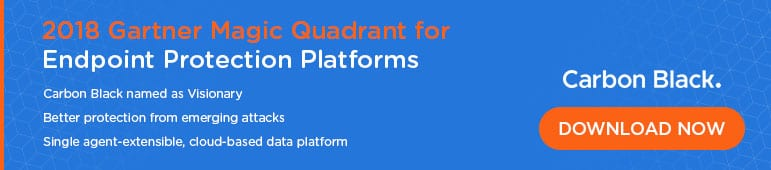 Download Link to Gartner 2018 Magic Quadrant for Endpoint Protection Platforms